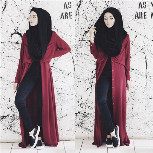 20 Model Baju Muslim Casual Modern Wanita Terbaru - SUNETFASHION 963fc7b2d5