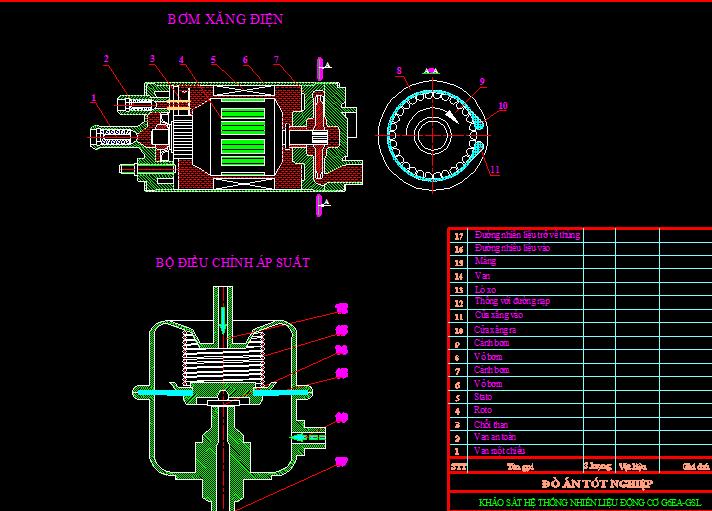 bơm xăng điện động cơ G6EAGSL2.7