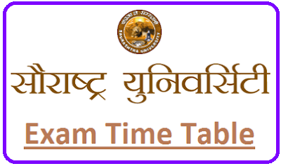 Saurashtra University Even Sem Time Table 2020