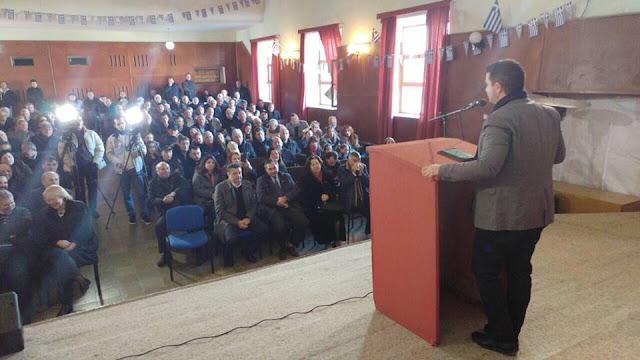 Ομιλία Κάτση στην επετειακή εκδήλωση για τα 26 χρόνια ΔΕΕΜ-Ομόνοιας στη Δερβιτσάνη