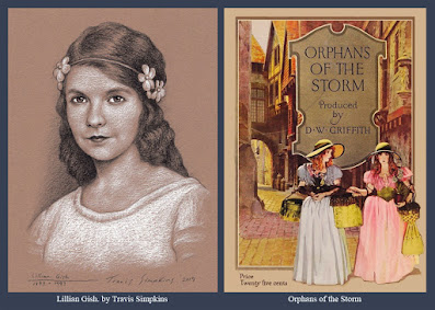 Lillian Gish. Silent Film Actress. Orphans of the Storm. D.W. Griffith. by Travis Simpkins