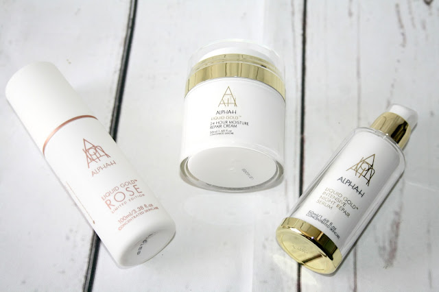 Alpha-H 3 Piece Liquid Gold Rose Anti-Ageing Skincare Collection - QVC TSV