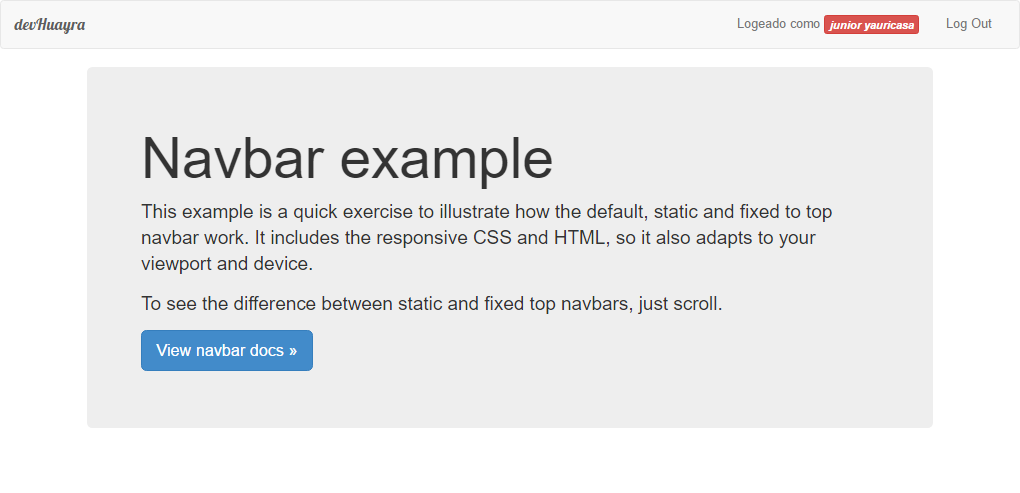 Ejemplo script de login/registro PHP MySql Bootstrap