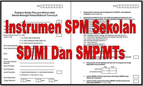 Instrumen SPM Sekolah SD/MI Dan SMP/MTs