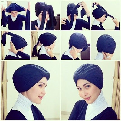 Tutorial Hijab Turban Pashmina Modern Gaya #7 Casual Trendi