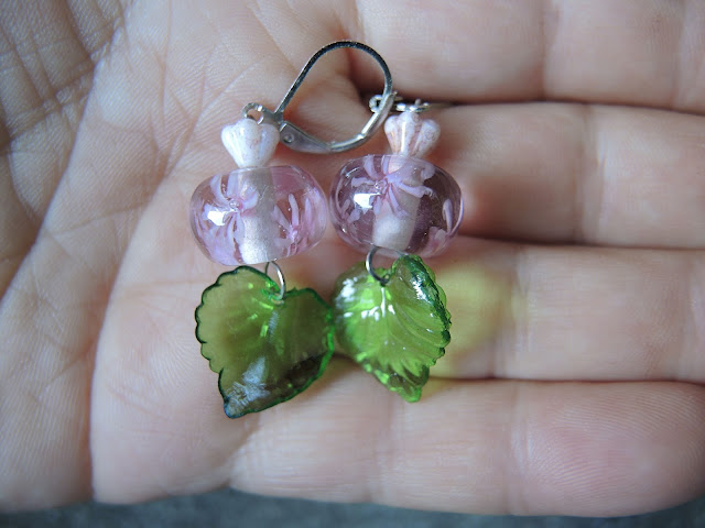 free pattern homemade earrings / gratis tutorial handgemaakte oorbellen