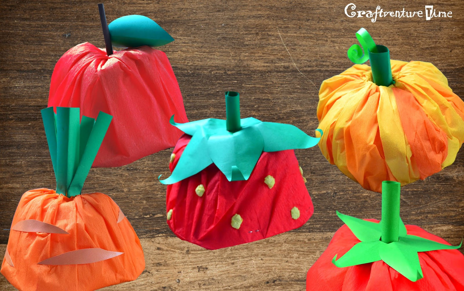 craftventure time diy fruit and veggies hats from paper boat part ii
