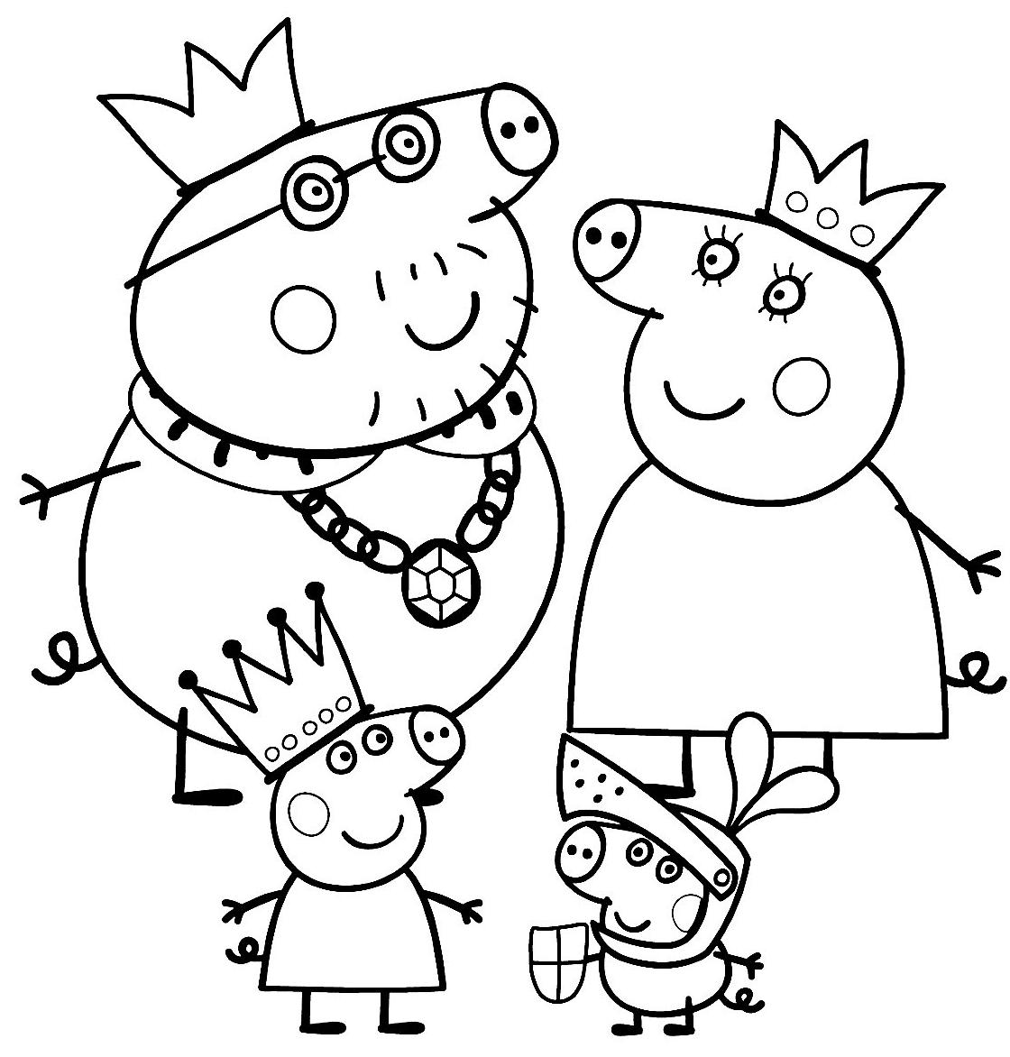 Birras.com: Dibujos de Peppa Pig para colorear y pintar