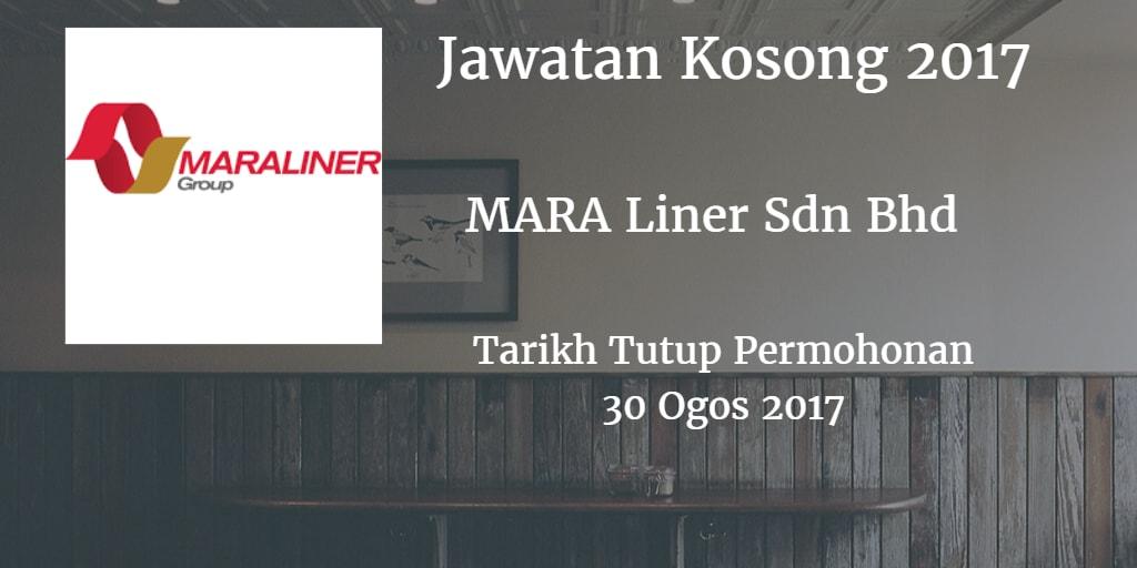 Jawatan Kosong MARA Liner Sdn Bhd 30 Ogos 2017