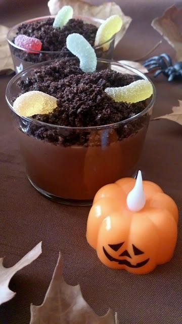 natillas chocolate tumbas halloween galletas oreo receta niños postre divertido facil sencillo sin horno
