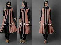 setelan muslim melva dusty pink