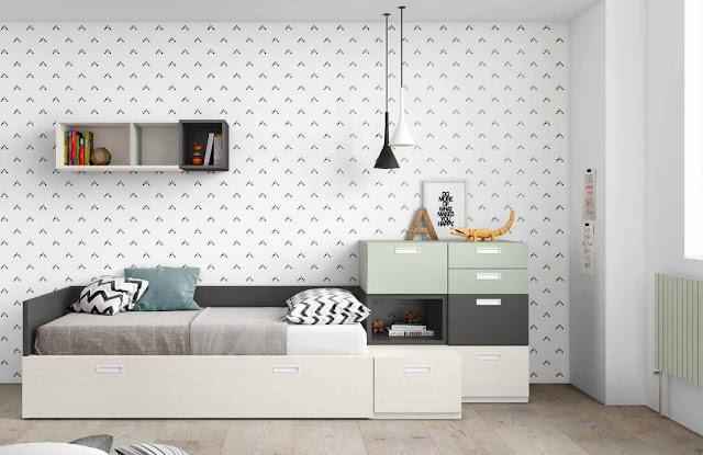 camas cubo para dormitorios juveniles modernos