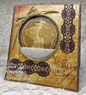 Stamps - Our Daily Bread Designs The Earth, Earth Verses, ODBD Custom Circle Ornaments Die