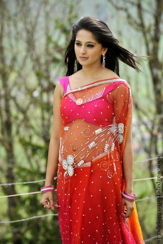 Wallpaper Gallery Anushka Photo Gallery In Pink Saree