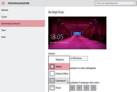 Come visualizzare le notifiche schermata di blocco windows 10