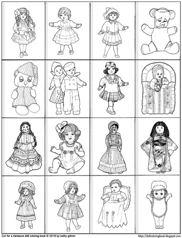- The Doll Coloring Book: Make A Miniature Printable Doll Coloring Book