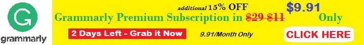 grammarly discount banner ad