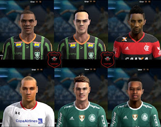 Faces: Adalberto, Victor Rangel, Rodinei, Maicon, Roger Guedes, Tche Tche, Pes 2013