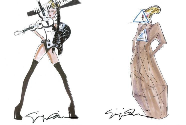 Giorgio Armani Designs Custom Looks For Lady Gaga S Born This Way Ball Tour