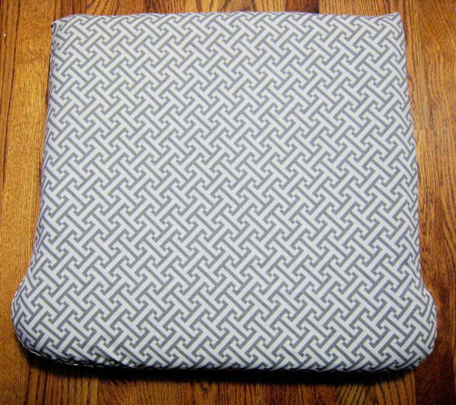 DIY upholstered glider cushion cover