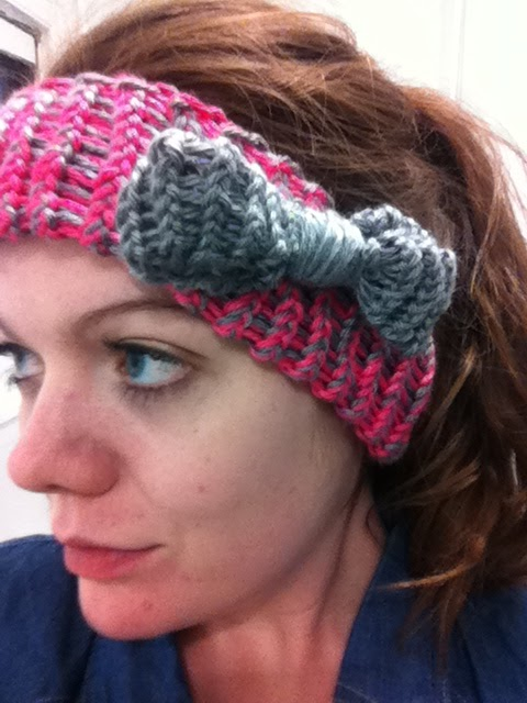 Life And Other Shenanigans Knitted Headband With A Bow