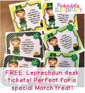 https://www.teacherspayteachers.com/Product/Leprechaun-Desk-Cards-Freebie-Positive-reinforcement-for-clean-desks-595268