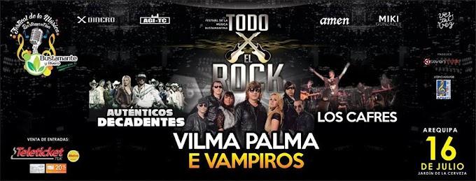 Festival todo por el Rock, en Arequipa - 16 de julio - Precio de entradas