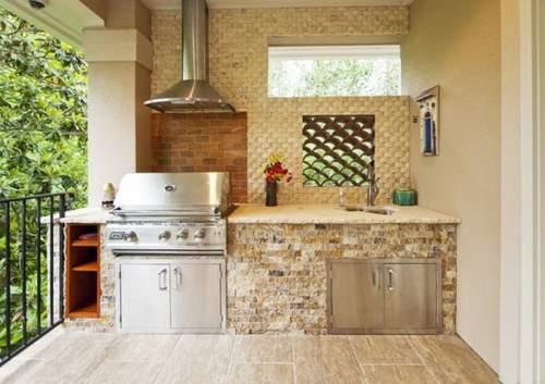 dapur minimalis outdoor