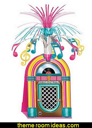 Jukebox Centerpiece  50s party ideas - 50s party decorations - 1950s Theme Party - 1950's Rock and  Roll Themed Party Supplies - 50s Rock and Roll Theme Party - 50s party decorations - 50s party props - 50s diner party  - 50s Costume
