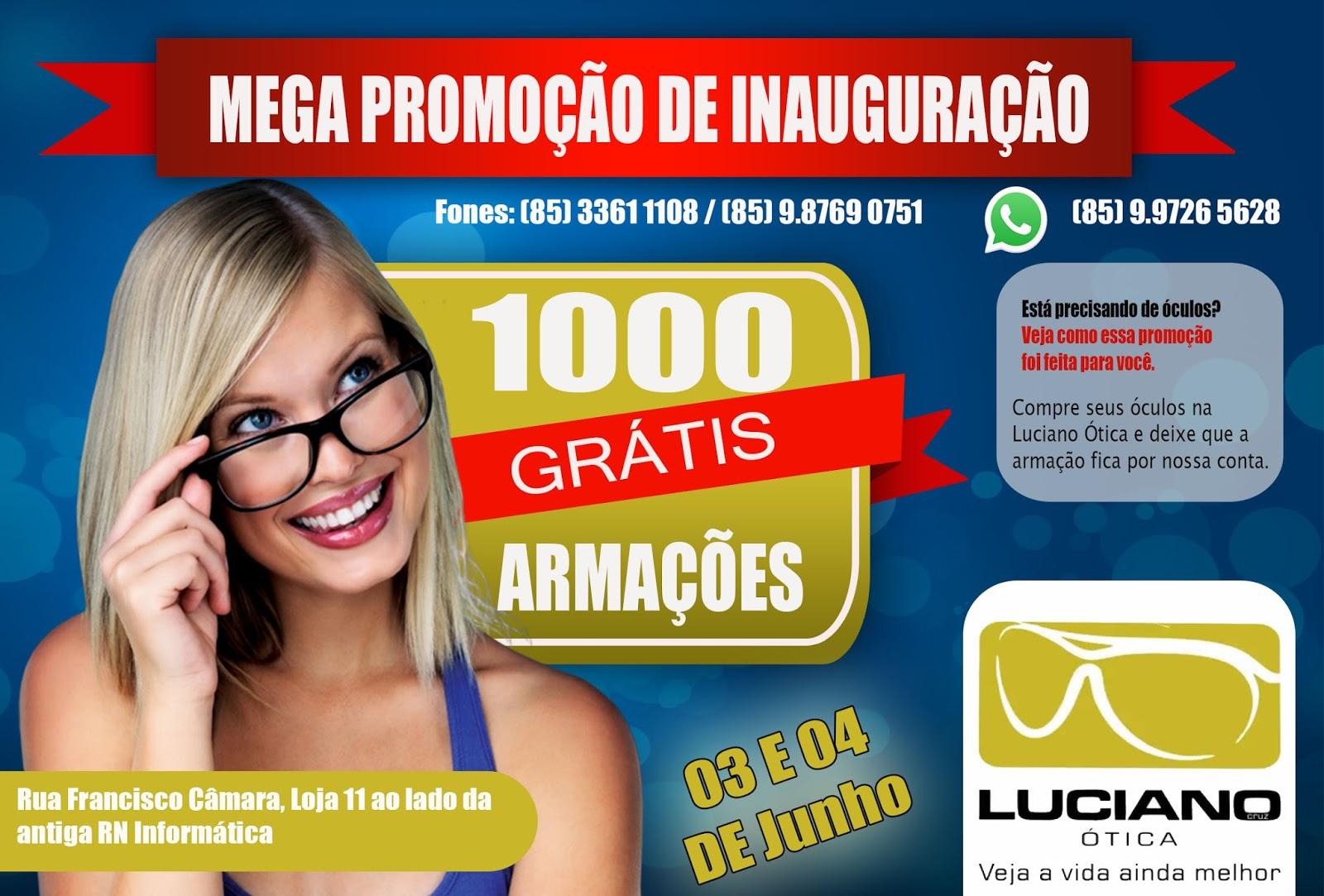 A Luciano Ótica trabalha com marcas consagradas . A rede se destaca por  trabalhar com todas as linhas de armações e lentes, desde as nacionais até  as ... d5a4326e09