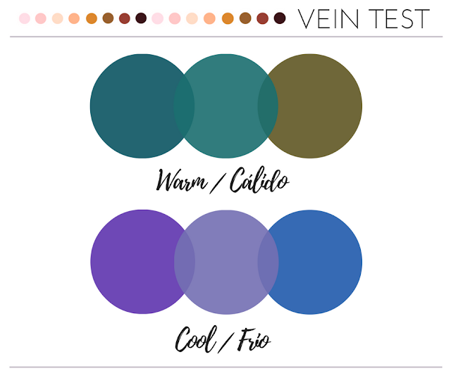 vein test, teoria del color, warm vs cool undertone, undertone, warm, cool