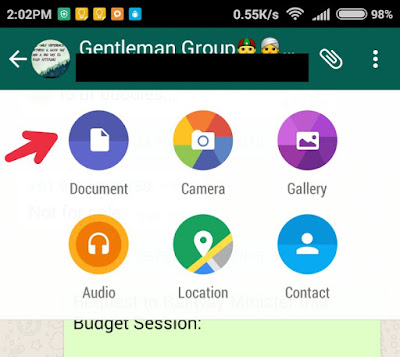 How to send documents on Whatsapp