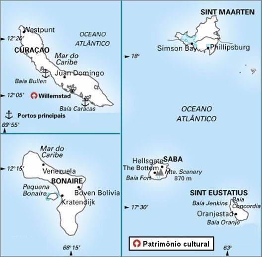 Antilhas Holandesas - Território da Holanda