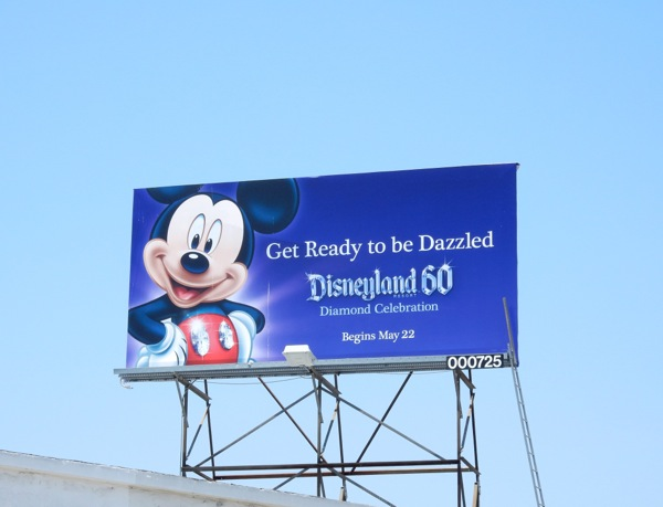 Mickey Mouse Disneyland 60 billboard