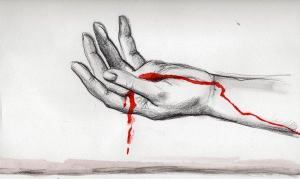 bleeding wrist drawing - 600×358