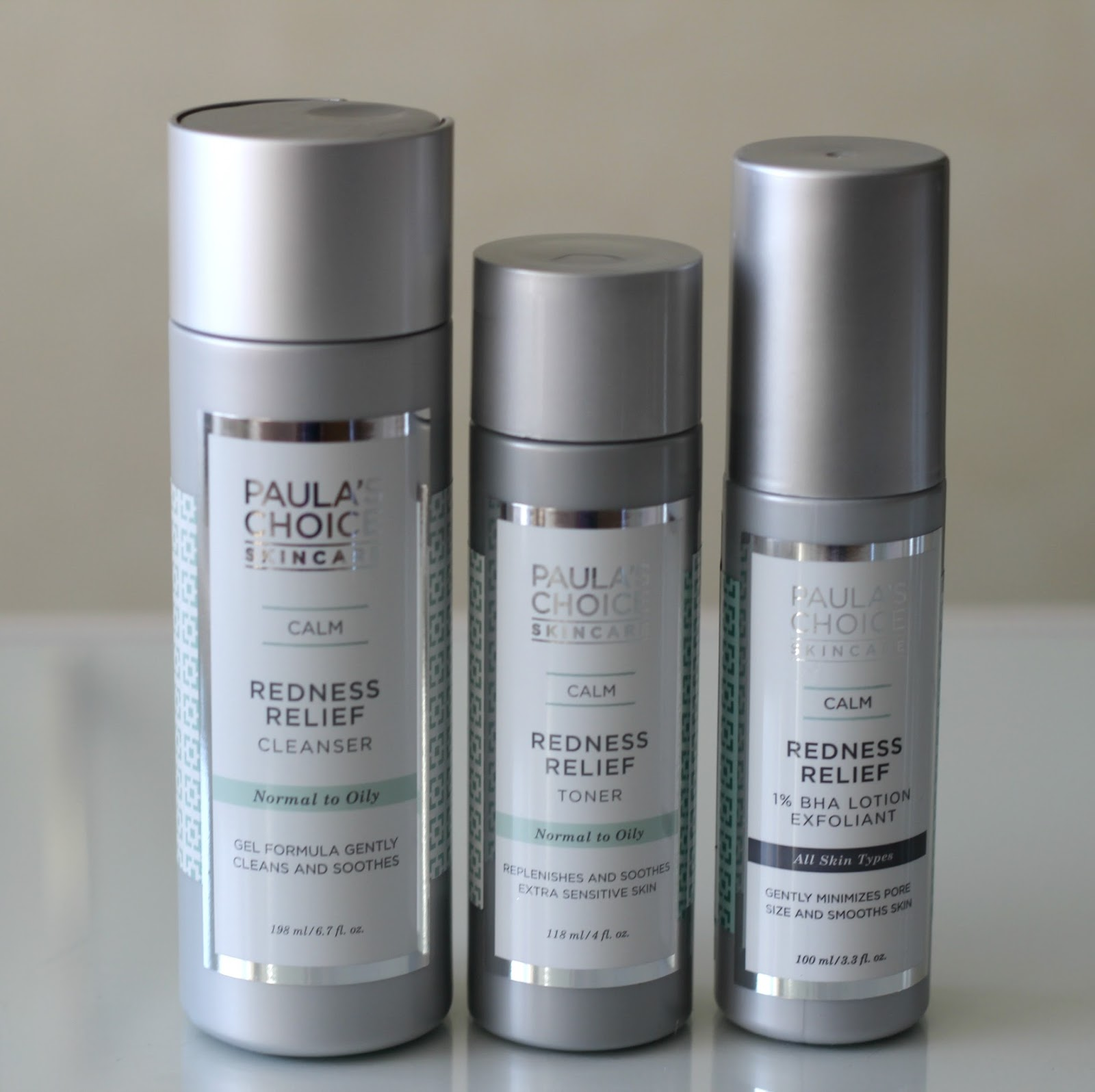 Paula's Choice Calm Redness Relief Cleanser Toner 1% BHA Lotion Exfoliant