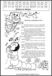 Leitura Maricota, a centopeia cantora