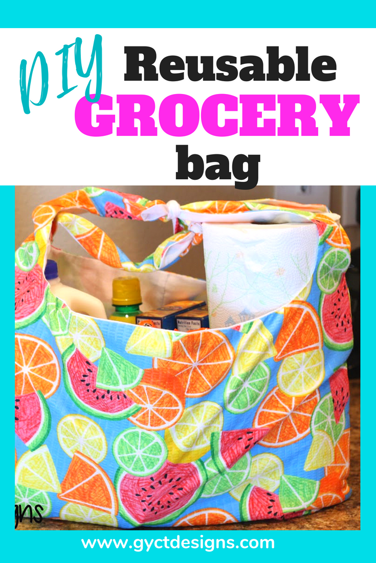Grocery Bag Pattern Pdf : grocery, pattern, Reusable, Shopping, Pattern, Download, Simple