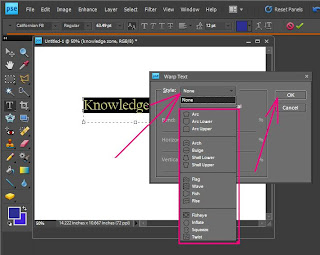 How To Curve or Bend Text or Sentence in Adobe Photoshop