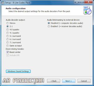 Tahap 6 Instalasi K-Lite Codec Pack Beserta Gambar