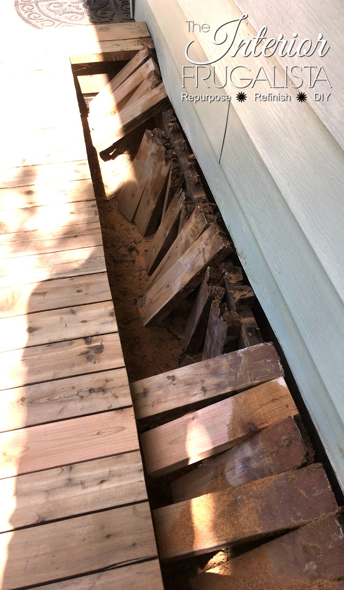 A budget-friendly deck restoration. How to restore an old outdoor wood deck to buy some time when a brand new replacement deck isn't in the budget.