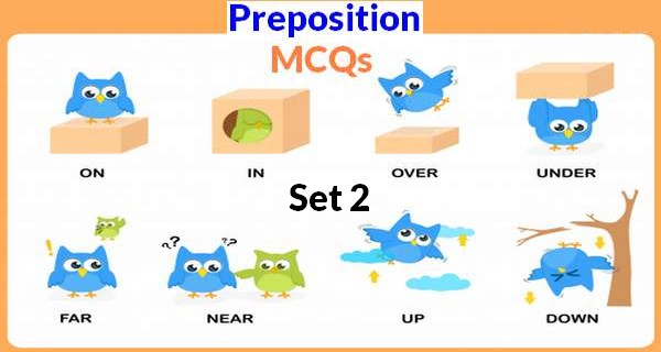 English Preposition MCQs With Answers Set 2