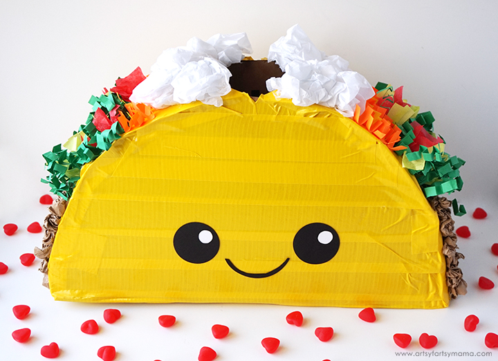 Taco 'bout awesome! Collect your Valentines in this adorable Taco Valentine Card Box!