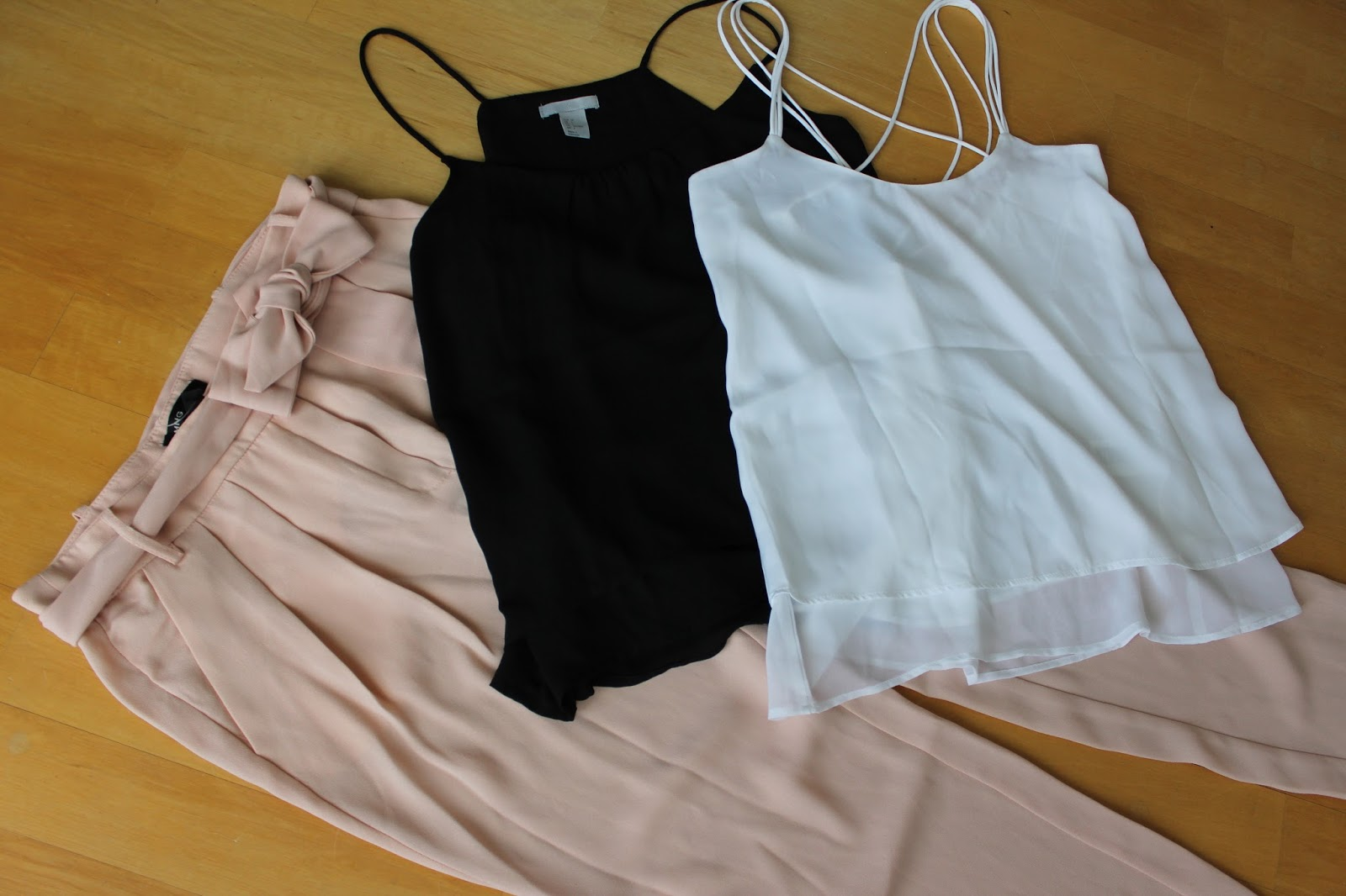 New in Shopping H&M Mango Pants Tops Chiffon