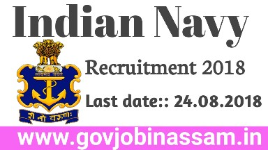 Indian Navy Recruitment 2018 : Executive & Technical Branch [118 Posts]
