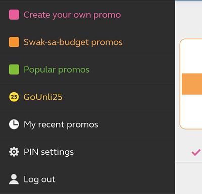 GoSakto App PIN Settings