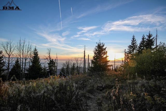 Sonnenuntergang am Lusen - Nationalpark Bayerischer Wald - wandern Lusen - Waldhäuser