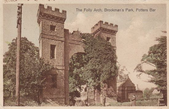 Folly Arch  c1920  Note the ivy growth on south elevation Image from the Peter Miller Collection