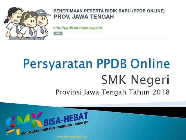 Persyaratan PPDB Online SMK Tahun 2018