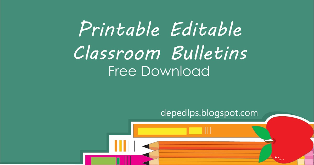 Printable Editable Classroom Bulletins Word Deped Lp S